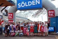 2015-16 FIS-Weltcup-Auftakt in Sölden, Schüler/innen der HLW Landeck im Einsatz