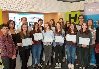 2018-19 Verleihung von Sprachenzertifikaten an der HAK und der HLW Landeck