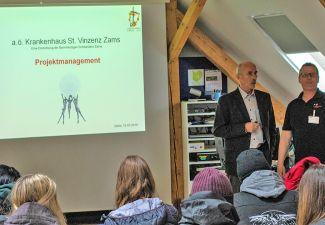 2018-19 Projektmanagement in der Praxis - die HAK Landeck besuchte das Krankenhaus Zams