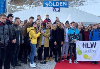2019-20 FIS-SKI-WM in Sölden ... die Schüler/innen der HLW Landeck waren mit dabei