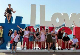2019-20 Die 3. Klassen waren auf Sprachreise in Cannes/Frankreich