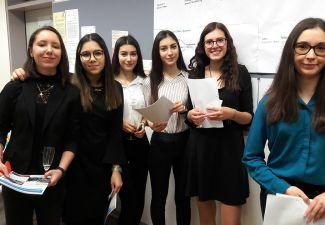"""2018-19 Die HAS Landeck organisierte ein """"Business-Treffen"""" an der Schule"""