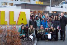2014-15 Exkursion der 2HWB zur Billa-Filiale in Landeck